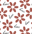 love flower seamless pattern vector image vector image