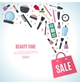 Make up concept flat vector image vector image