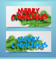 merry christmas festive horizontal banners vector image