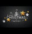 Merry christmas message gold stars design