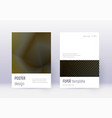 minimalistic cover design template set gold abstr vector image