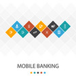 mobile banking trendy ui template infographics vector image vector image