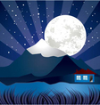 night landscape with river vector image