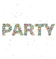 party word consisting of colored particles vector image