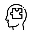puzzle detail in man silhouette mind icon vector image