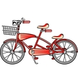 Red tandem bicycle vector image vector image