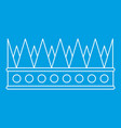 regal crown icon outline style vector image vector image