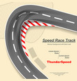 road with tire tracks vector image vector image
