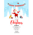santa claus holiday winter vector image vector image