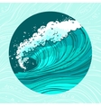 Sea waves circle vector image