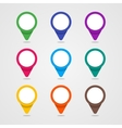 Set of colorful map pointer in flat style and vector image vector image