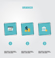 set of registration icons flat style symbols with vector image vector image