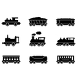set train icons vector image vector image