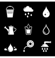 set white watering icons vector image
