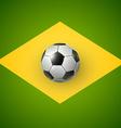 soccer ball brazil 2014 vector image