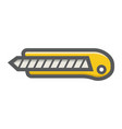 stationery knife filled outline icon build repair vector image vector image