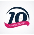 Template Logo 10 Anniversary vector image vector image