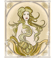 The mermaid vector image
