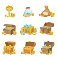 Treasure And Riches Set Of Graphic Design Elements vector image vector image