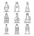 vinegar icon set outline style vector image vector image