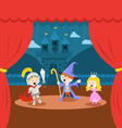 Cute Little Kids Theater Performance vector image