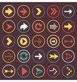 Flat arrow icons sign symbol set vector image