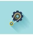 Flat repair icon Settings symbol vector image