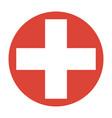 symbol of medicine cross vector image