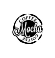 Mocha coffee stain badges black and White vector image
