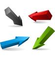 set of vector arrows vector image