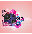 Abstract music background with round speaker vector image vector image