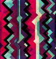 abstract totem seamless pattern with grunge effect vector image
