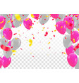balloons colored confetti with ribbons and vector image vector image