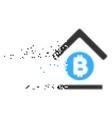 bitcoin bank roof broken pixel icon vector image