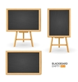 black board set different view vector image vector image