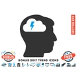 Brainstorming Flat Icon With 2017 Bonus Trend vector image vector image