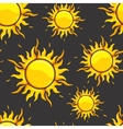 Bright orange suns in dark space vector image vector image