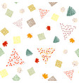 bright seamless pattern with colored autumn leaves vector image vector image
