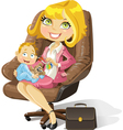 Business mom vector image vector image