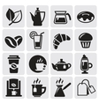 cafe icons vector image vector image