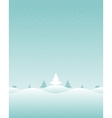 christmas retro winter landscape and trees vector image
