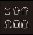 clothes icons in dark background vector image vector image