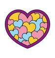 color beauty heart symbol decoration style vector image vector image