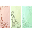 Color floral vertical banners set vector image vector image