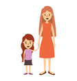 colorful image caricature full body mother in vector image vector image