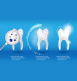 dental health concept set 3d realistic vector image