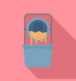 dough factory icon flat style vector image vector image