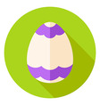 Easter Egg with Ornament Circle Icon vector image vector image