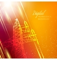 Electric power transmission tower vector image