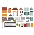 family house design elements vector image